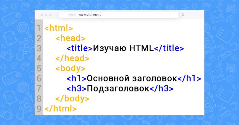 Обязательные HTML теги