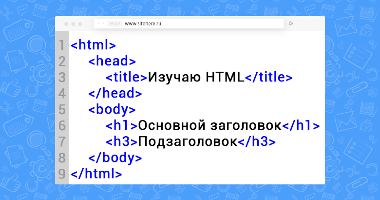 Пример структуры HTML документа и что это такое