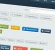 PSD+HTML веб элементы пользовательского интерфейса