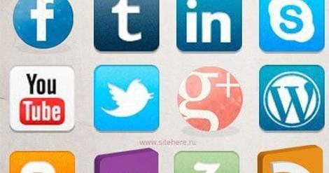 Набор иконок социальных сетей