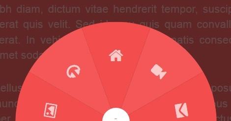 Круговая навигация с помощью CSS преобразований