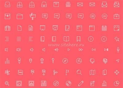 Набор из 100+ иконок