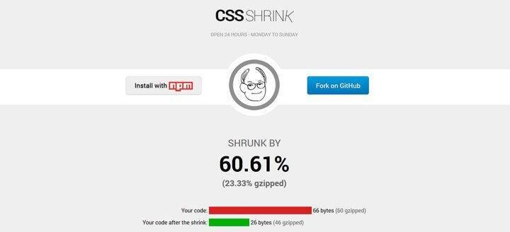 CSS Shrink
