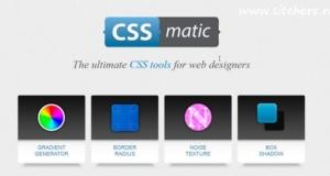 CSSMatic - сервис для веб-дизайнеров