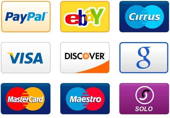 PNG набор иконок способов оплаты