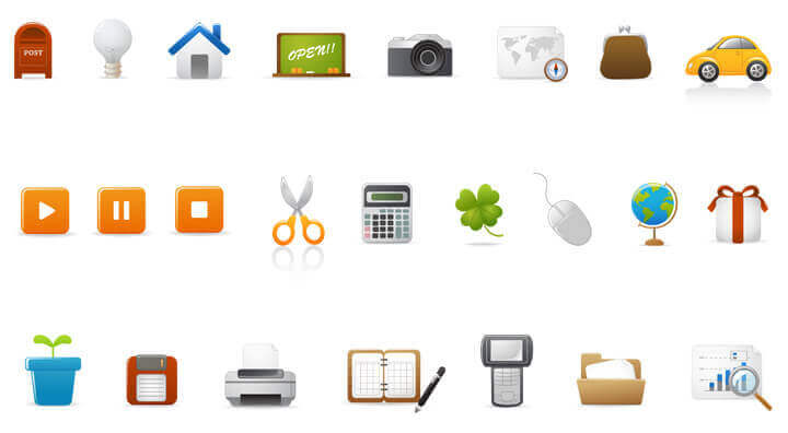 Простые и красивые векторные иконки