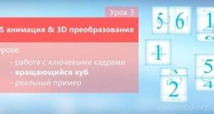 3D преобразования и анимация CSS — Урок 3. Вращающийся куб