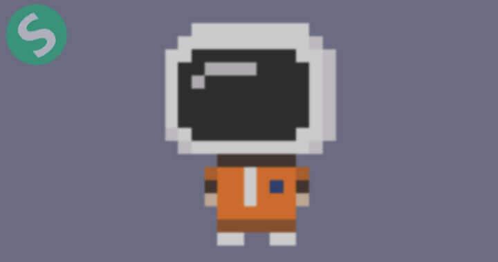 8-битный астронавт на CSS