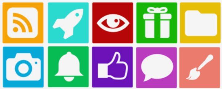 Иконки в виде изображений для теста