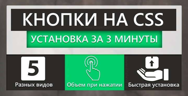 Быстрая установка кнопок CSS