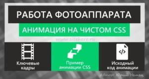 Анимация CSS - работа фотоаппарата