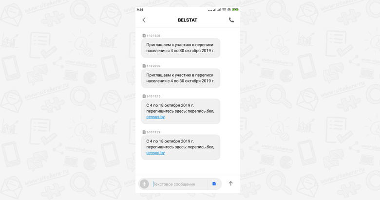 СМС от БелСтат