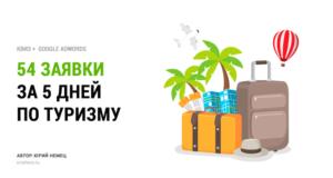 54 заявки за 5 дней для туристической компании