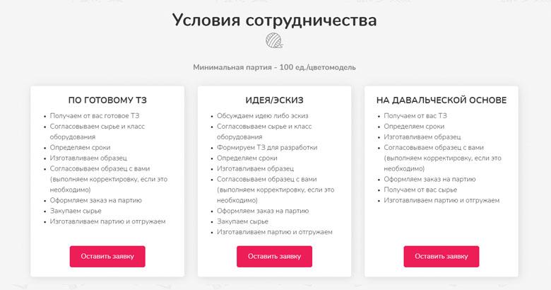 Сайт: условия сотрудничества