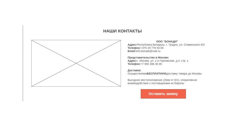Прототип: наши контакты