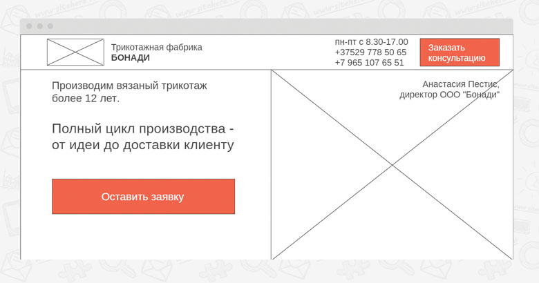 Прототип: главный экран