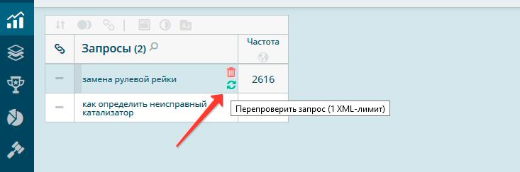 Ручная проверка позиций сайта в Topvisor
