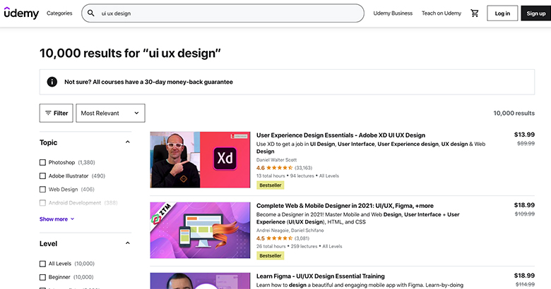 Курсы по дизайну от Udemy